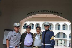 WWII Vets with Citadel Cadets