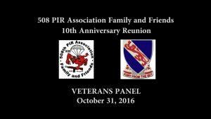 508 PIR Association Veterans Panel